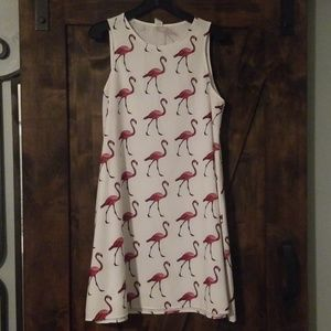 Flamingo Print Dress